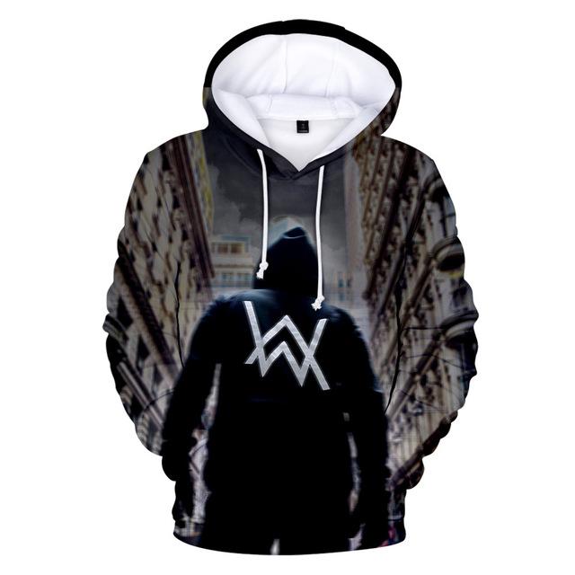 Z&Y 4-20Y Fashion DJ Master Alan Walker Warm Clothes Pullover 3d Hoodies Boys Sweatshirt Girls Hip Hop Jacket Kids Hooded Jumper