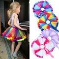Fashion Girls Toddler Baby Princess Kids Sundress Rainbow Tulle Tutu Skirt 0-10 T
