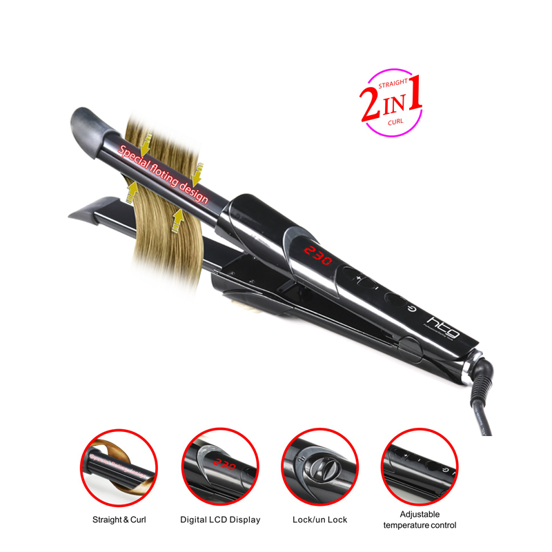 ФОТО HTG Professional 2 in 1  Hair straightener & curler curling iron  HT043