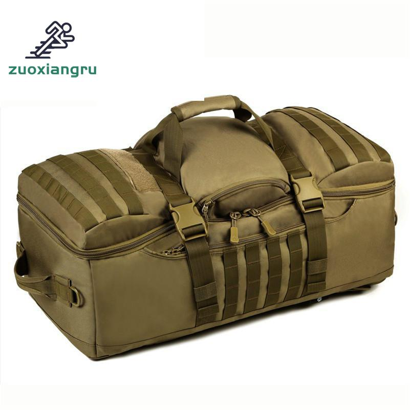 Zuoxiangru Men/Women Bags 60 L Waterproof Backpack Military 3P Backpacks School Bag Notebook Laptop Bag mens canvas bags waterproof molle backpack military 3p school trekking ripstop woodland gear men assault cordura bag packsack