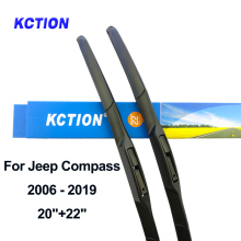 цена на Windshield hybrid front wiper blade windscreen rear wiper car accessories for Jeep Compass year from 2006 to 2019 Fit Hook Arms