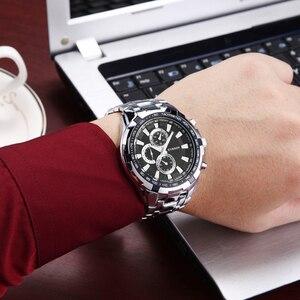 Image 5 - Relógio de pulso à prova dwaterproof água de aço completo relógio de pulso para homem relógio de pulso masculino