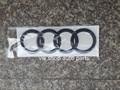 High Quality Black Matt ,pink , orange ,chromed Rear Badge Trunk Emblem Audi Rings for Q3 Q5 Q7 A1 A6
