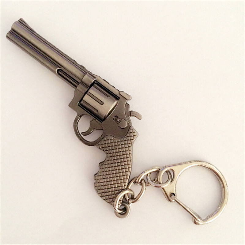 US $1 8 |2016 Popular Hot Game Cross Fire Weapon Gun Key Chains Wholesale  Cool CF Metal Pistol Keychains Key Rings For Men Jewelry-in Key Chains from