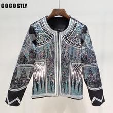 Cardigans Jacket Woman Streetwear Style luxurious Sequin Jacket
