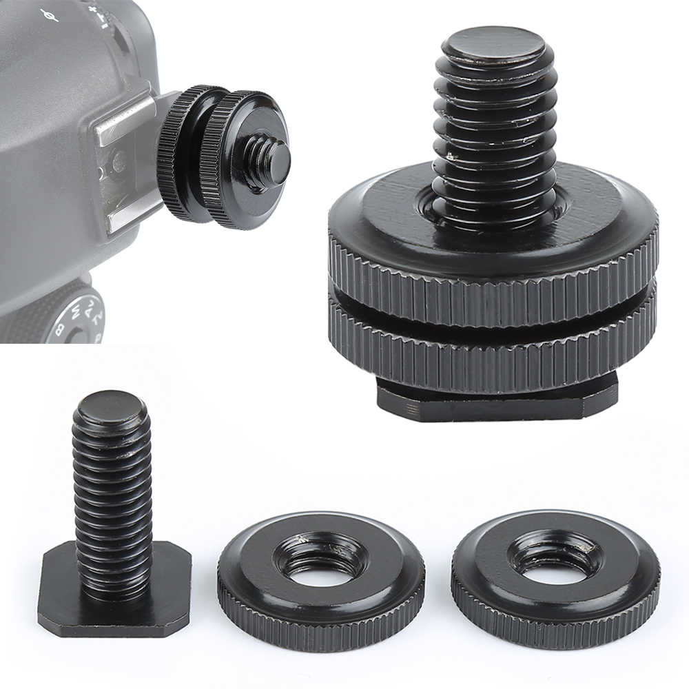 1 Pcs 1/4 Tripod Mount Screw ke Flash Kamera Mount Up Down Kunci Adapter Screw Untuk Kamera Digital Foto Aksesoris