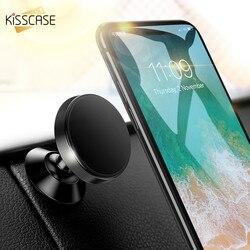 KISSCASE Автомобильный держатель для телефона в автомобиль Магнитная автомобильный держатель телефона для iPhone X 8 7 samsung S9 S8 кронштейн мобильный ...