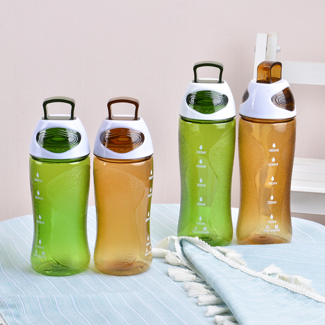 a55bea3845 Protein Shaker Portable Motion My Water Bottle Bpa Free Plastic For Sports  Camping Hiking 380/480ml