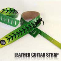 LEATHER GUITAR STRAP Electric Guitar Strap Guitar Strap Electric Bass Strap Green Can Be Adjusted Freely
