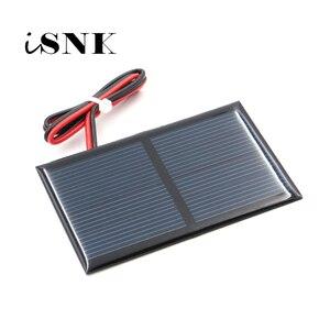 Image 1 - 2 в 300 мА с удлинительным кабелем 30 см, солнечная панель, поликристаллический кремний, DIY модуль зарядного устройства для аккумулятора, миниатюрный провод для солнечной батареи, игрушка