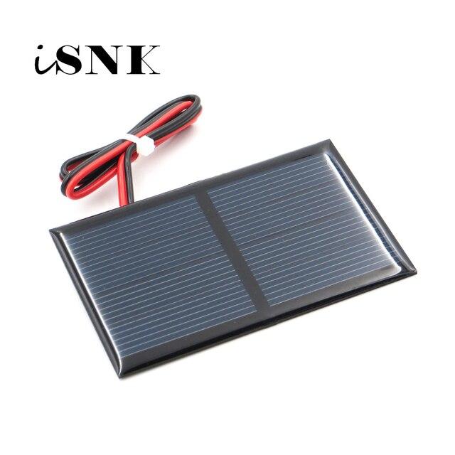 2 в 300 мА с удлинительным кабелем 30 см, солнечная панель, поликристаллический кремний, DIY модуль зарядного устройства для аккумулятора, миниатюрный провод для солнечной батареи, игрушка