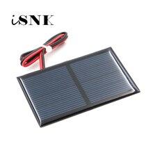 2 v 300ma com 30cm estender cabo painel solar silício policristalino diy bateria carregador módulo mini célula solar fio brinquedo