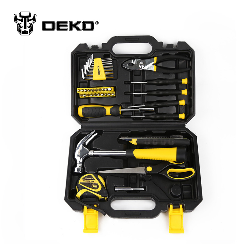 DEKOPRO High Quality Hand Tool Set Car Repair Tool 40pcs 1/4-Inch Ratchet Torque Wrench Combo Tools Kit Auto Repairing tool 8 10 13mm flexible head ratchet spanner combination torque wrench set auto repair hand tool for car kit a set keys chavead2006