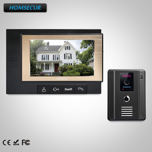 HOMSECUR 7 Video Door Entry Security Intercom+Black Monitor for Home Security : TC011-B +TM702-B