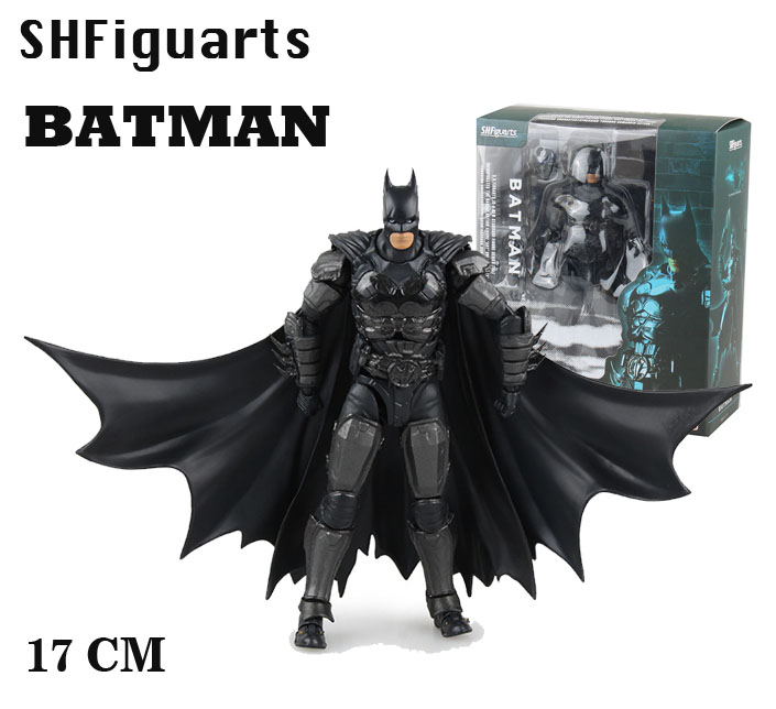 Free Shipping 6 Comics DC Superhero SHFiguarts Batman INJUSTICE ver. Boxed 16cm PVC Action Figure Collection Model Doll Toy free shipping 6 comics dc superhero shfiguarts batman injustice ver boxed 16cm pvc action figure collection model doll toy