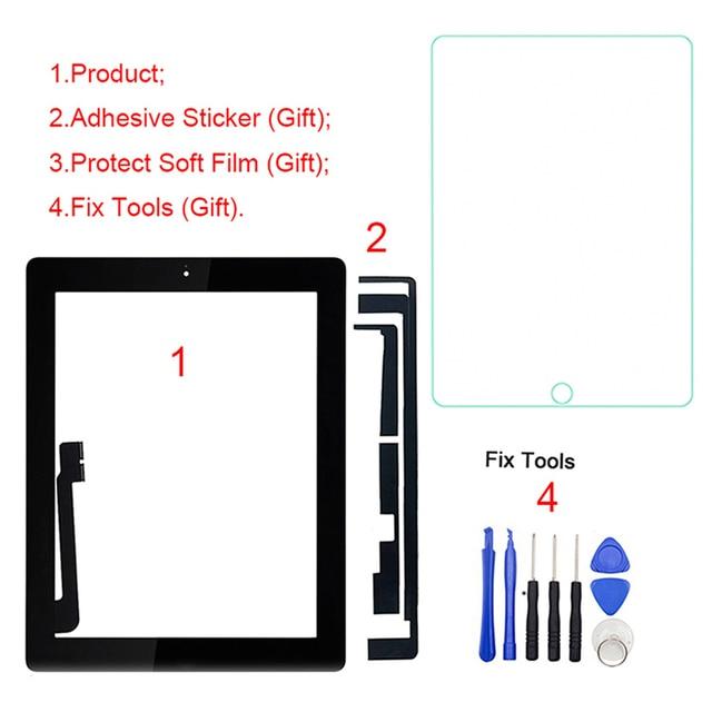 """1 шт для iPad 4 4th Gen A1458 A1459 A1460 9,7 """"ЖК-дисплей внешний сенсорный экран планшета спереди Стекло Панель Замена"""