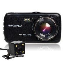 Nueva 4.0 pulgadas Mini Coche Cámara 2 cámara Full HD 1080 P Coche dvr Grabador de Vídeo de la Visión Nocturna Estupenda Dash Cam 170 Grados de Ángulo Ancho