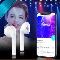 Bluetooth Wireless headphone Ear Hook Buds i7 earphone Mini Stereo headset Earpiece With Mic Sport Headset For Xiaomi Samsung