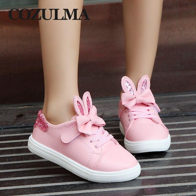 COZULMA Spring Children Sneakers Kids Shoes Girls cekinowe uszy - Obuwie dziecięce - Zdjęcie 3