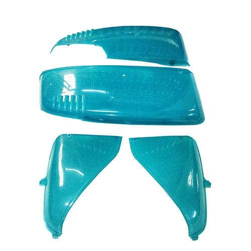 for Honda AF52 Julio Motorcycle Scooter Plastic Body Fairing Kit Transparent Orange Blue Front Side Panel
