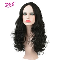 Deyngs Long Synthetic Afro Kinky Curly Wig For Black Women Natural Black Brown Color Hair Wigs