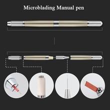 1pcs Microblading Accessories Professional Tattoo Manual Pen Permanent Makeup Supply Aluminium Alloy Tattoo Pen for Eyebrow Lip