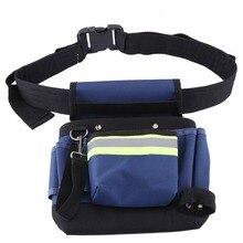600D أكسفورد أداة حزام حقيبة حقيبة الخصر الحقيبة الخصر جيب في الهواء الطلق العمل أدوات يدوية الأجهزة تخزين كهربائي البستنة أداة