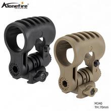 AloneFire M340 Тактический зажим для шлема адаптер для быстрого шлема черный шлем фонарик клип держатель для спорта на открытом воздухе фара крепление