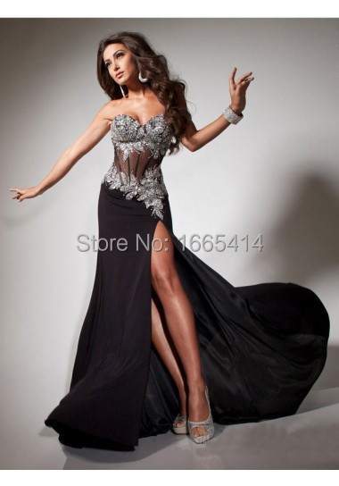 Black Mermaid Prom Dress 2015