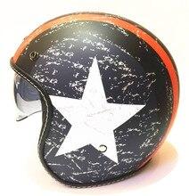 Il trasporto libero 2017 nuovo casco capacetes casco del motociclo retro vintage motocross casco 3/4 viso aperto caschi scooter S L XL XXL