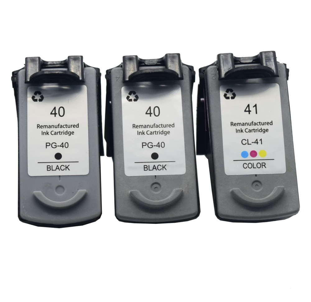 3PK 40 41 Ink Cartridge PG40 CL41XL for pg-40 cl-41 Canon PIXMA iP1600 iP1200 iP1900 MX300 MX310 MP160 MP140 MP150 MP145 198