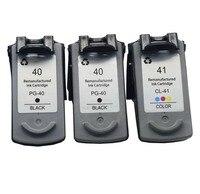 3PK 40 41 מחסנית דיו CL41XL עבור pg-40 cl-41 PG40 Canon PIXMA iP1600 iP1200 iP1900 MX300 MX310 MP160 MP140 MP150 MP145 198