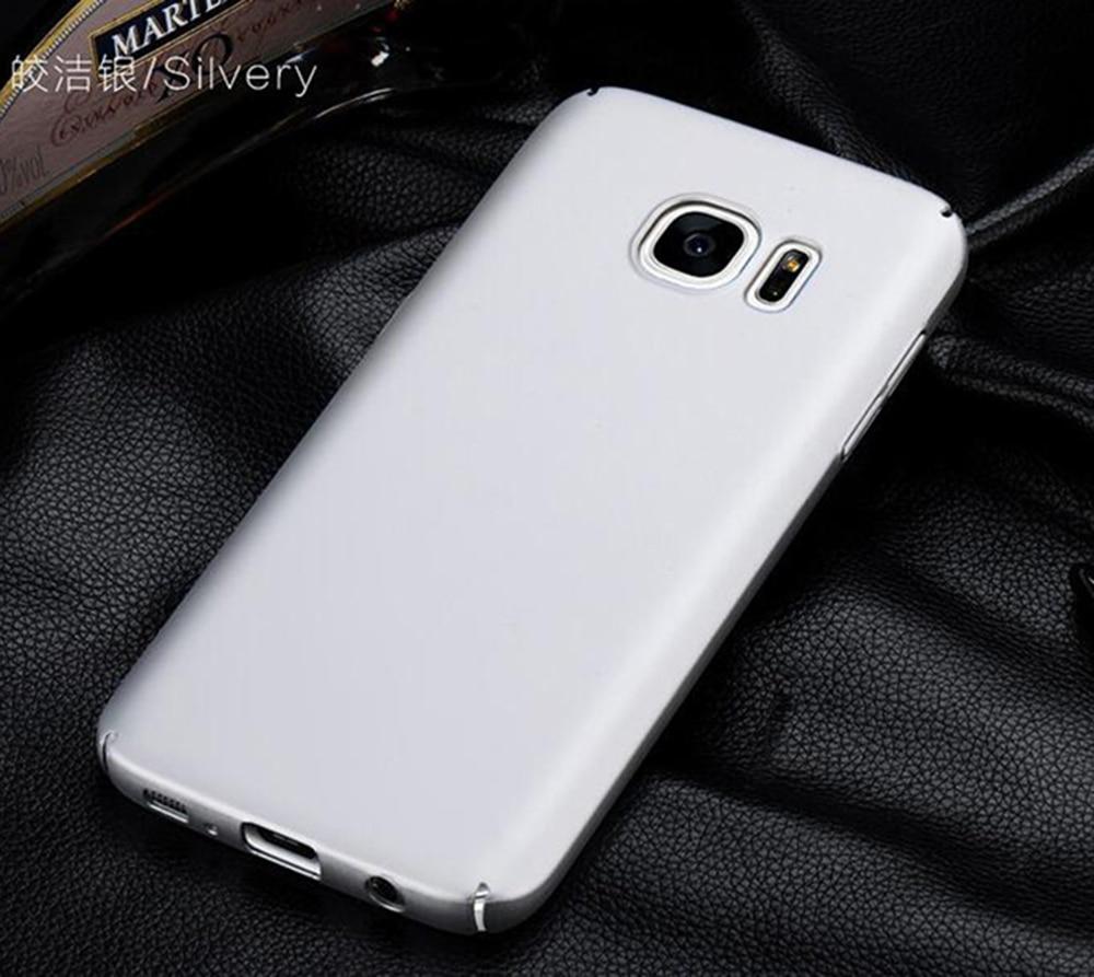 Samsung Galaxy S7 S7 EDGE üçün xFSKY halda zərif sadə, Ultra nazik ipək hiss etmə prosesi kamerası qoruyucu arxa örtük gümüş rəng