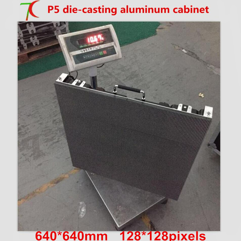P5  640*640mm 8 scan HD   full color die-casting aluminium cabinet led display ,40000dots/m2