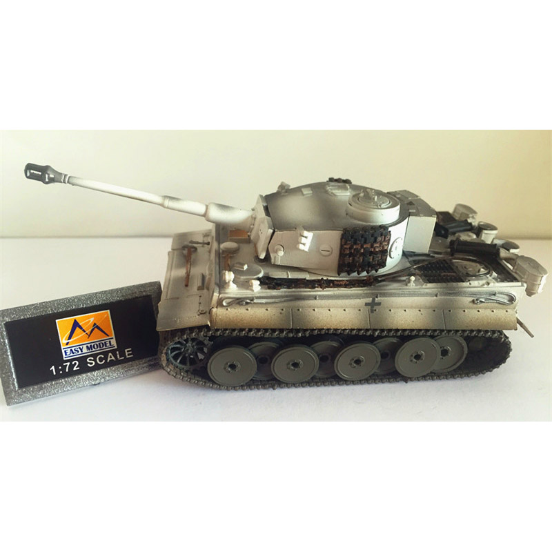 Easy Model World War II German 503 Tiger Tank Model 1/72 Scale Diecast Finished Alloy Toy For Collect Gift trumpeter assembled tank model 00910 world war ii german tiger tanks 2 in 1