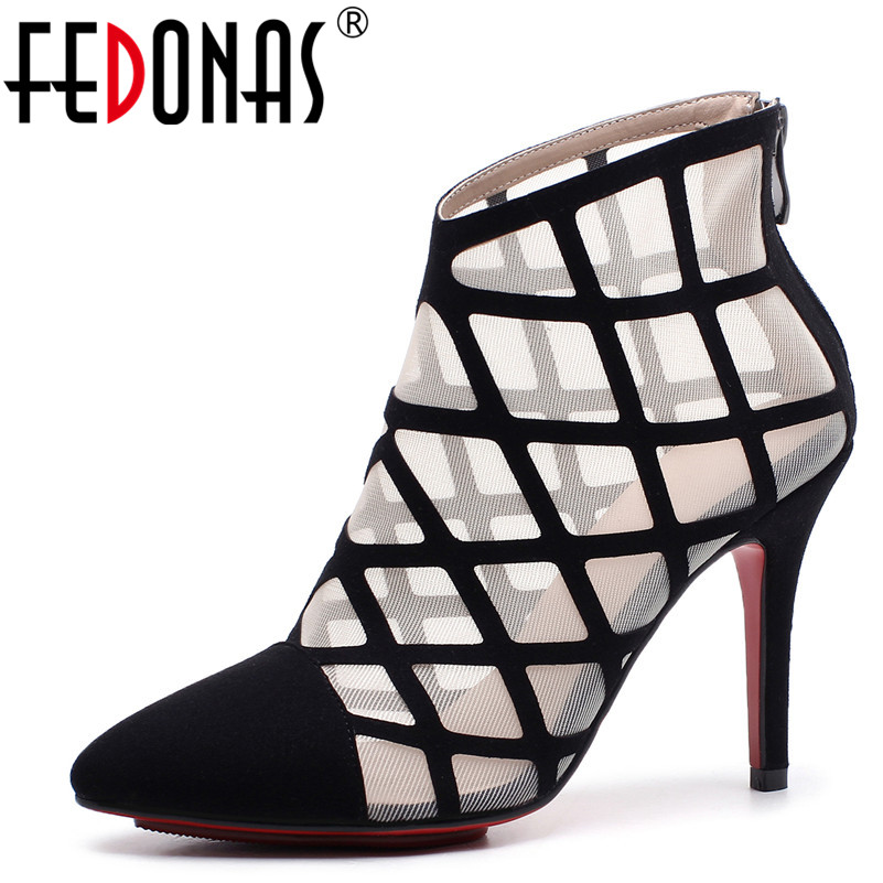 FEDONAS 2018 Women Sandals Spring Summer Glitters Pumps Sexy Genuine Leather Wedding Party Shoes Woman Female High Heels Pumps phyanic 2017 gladiator sandals gold silver shoes woman summer platform wedges glitters creepers casual women shoes phy3323