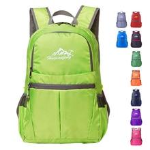 Outdoor Foldable Backpack 25L Lightweight Waterproof Nylon Backpack Folding Bag Ultralight Women Men Travel Hiking Climbing Pack цена