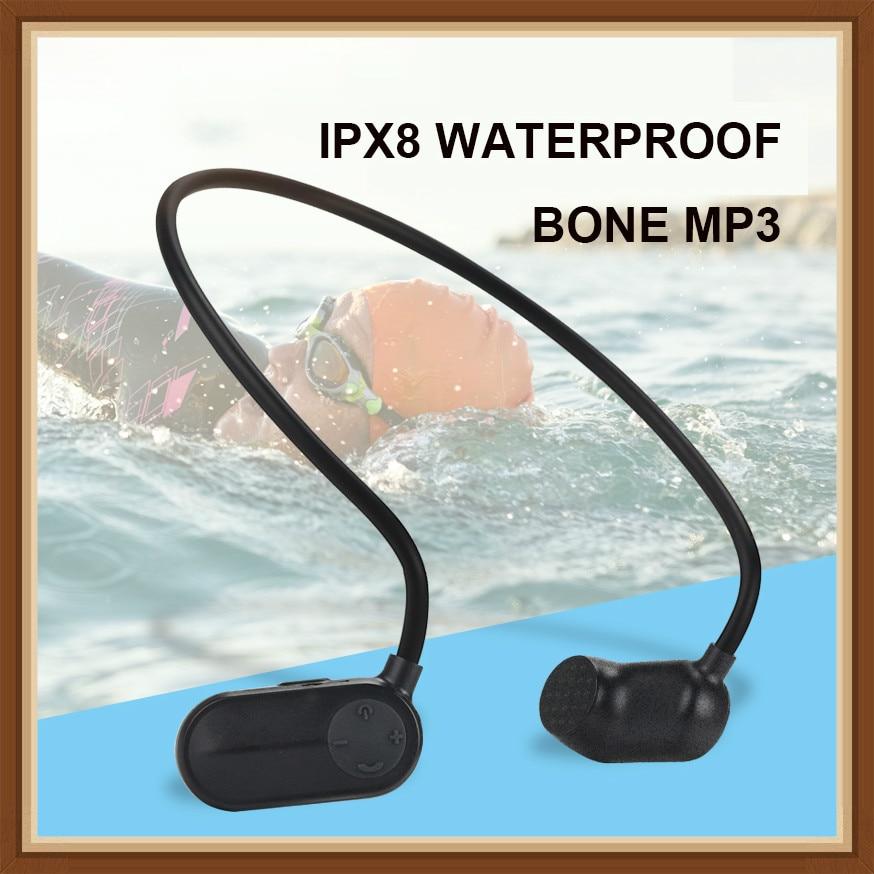 OKCSC Bone Conduction MP3 HiFi Music Player IPX8 Waterproof 8G 16G Swimming Sport Outdoor Players Earphone Style USB Charge