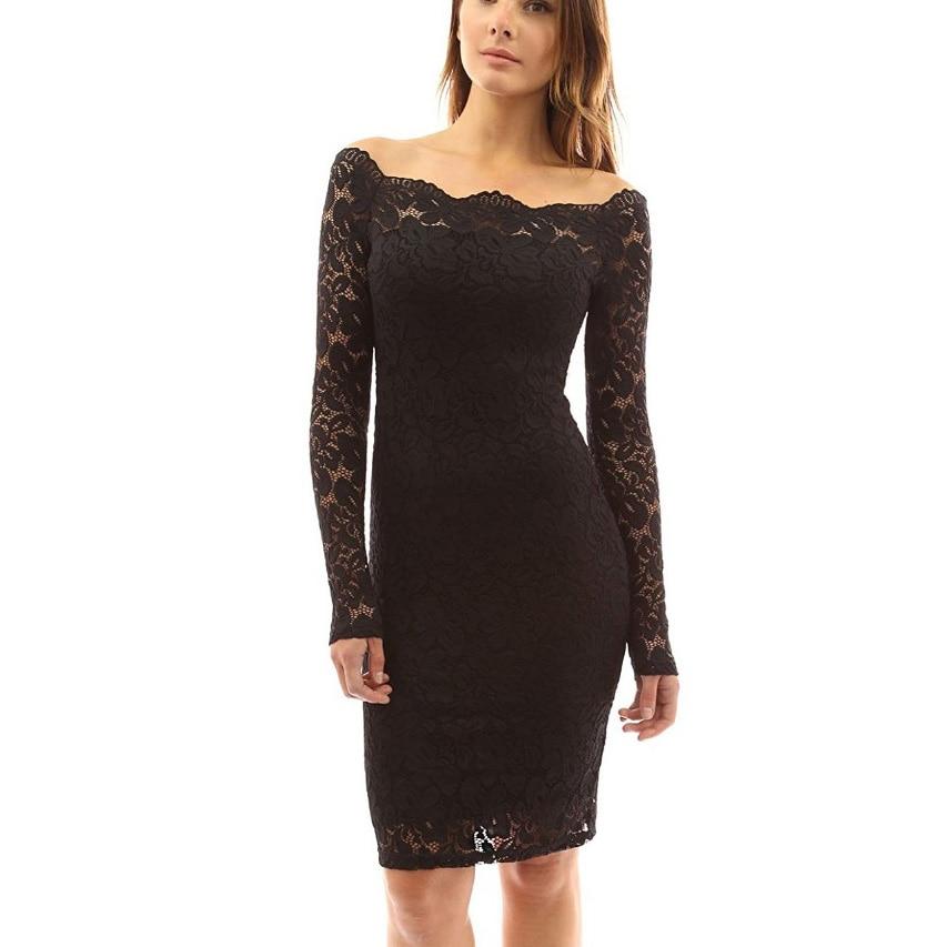 Women Lace Dress Casual Straight Half Sleeve Knee Length