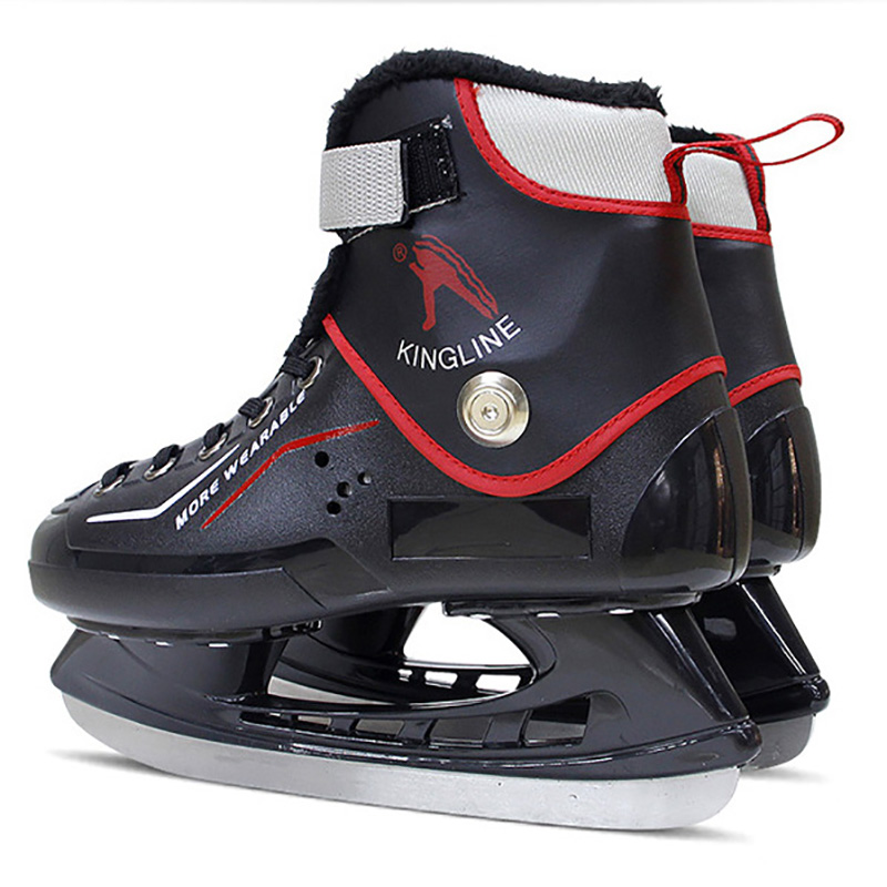 Roller Skates, Skateboards & Scooters Winter Adult Teenagers Pu Professional Thermal Warm Fleece Thicken Ice Skates Shoes With Ice Hockey Blade Speed Skating Beginner Sports & Entertainment