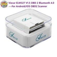 Viecar ELM327 V1.5 OBD 2 Bluetooth 4,0 для Android/IOS OBD2 сканер automotriz автомобильный диагностический инструмент elm 327 v1.5