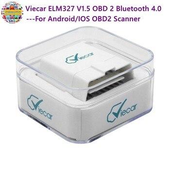 Viecar ELM327 V1.5 OBD 2 Bluetooth 4,0 для Android/IOS OBD2 сканер автомобильный диагностический инструмент elm 327 v1.5