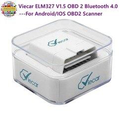 Viecar ELM327 V1.5 OBD 2 Bluetooth 4.0 dla androida/IOS skaner OBD2 autotriz narzędzie diagnostyczne do samochodów elm 327 v1.5