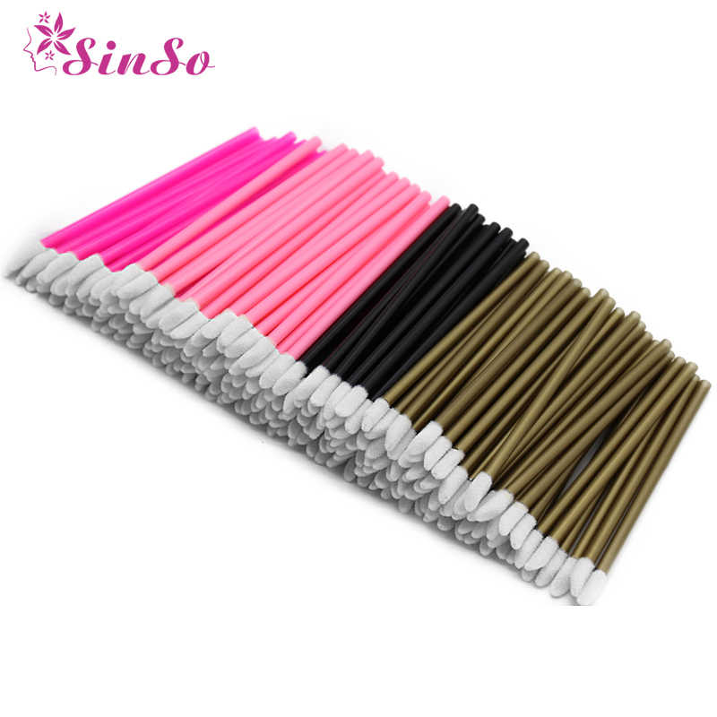 2/50Pcs Disposable Kosmetik Makeup Kuas Bibir Lipstik Bibir Glossy Tongkat Cleaner Pen Aplikator Eyeshadow Lip Gloss Kuas alat