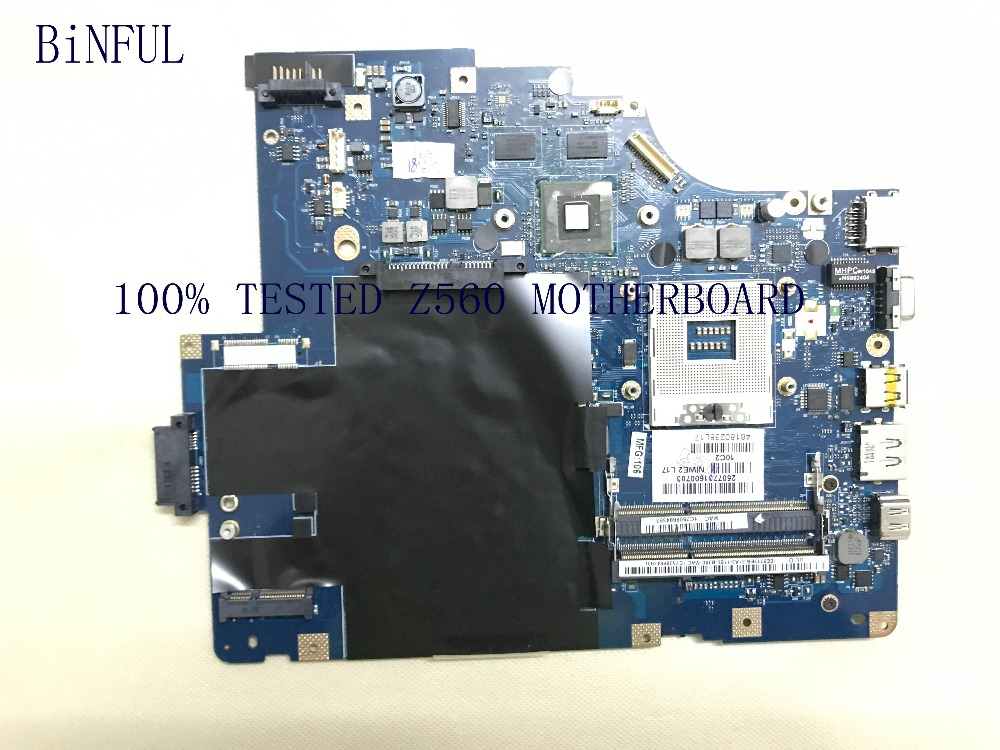 BiNFUL NEW SUPER TESTED LA 5752P FREE SHIPPING LAPTOP MOTHEBOARD FOR LENOVO Z560 NOTEBOOK COMPARE BEFORE