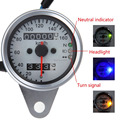 Brand New Universal Motorcycle Dual Odometer Speedometer Gauge LED Backlight 3 Indicators