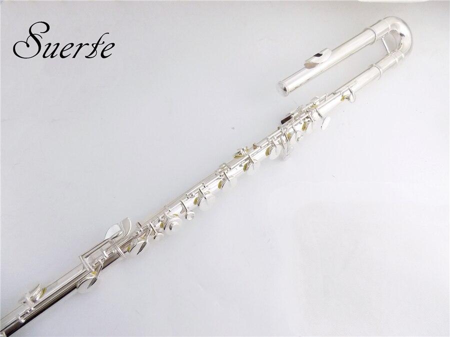 C chiave Flauto Basso strumenti 14 Fori Cupronichel Flauto basso Off Set G Chiave ocarina con Casi di strumenti musicali