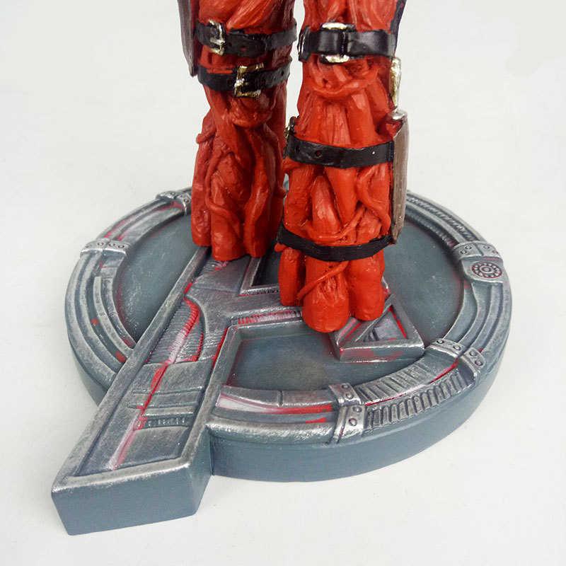 Lensple nieskończoność wojna statua Superhero Star-Lord Yondu dobry przyjaciel drzewo człowiek Deadpool Thor dziecko biust figurka z żywicy zabawka model
