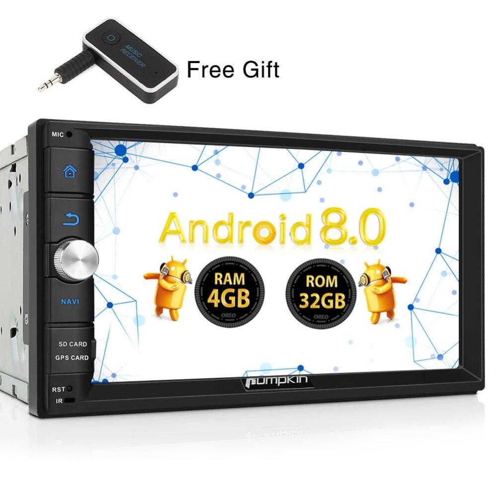 все цены на Pumpkin 2 Din 7'' Android 8.0 Universal Car Radio No DVD Player Qcta-Core GPS Navigation Car Stereo Wifi 3G/4G DAB+ USB Headunit онлайн
