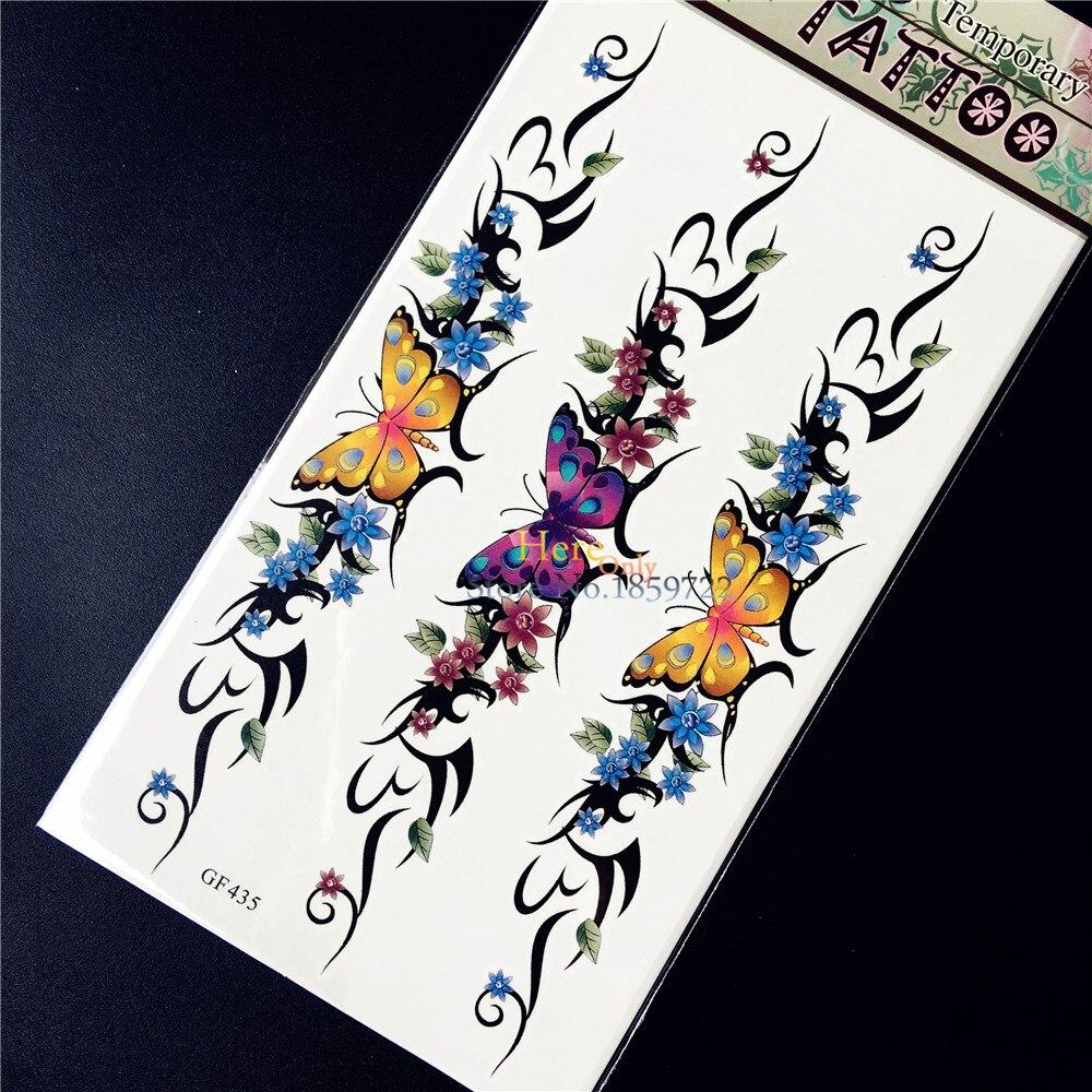 Fiore di farfalla Bracciale Braccialetto Stickers ...
